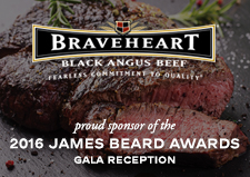 Proud Sponsor of the 2016 James Beard Awards Gala Reception